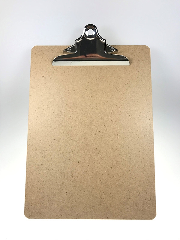 Image of   Clipboard A4, u/forside, MDF